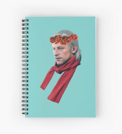 Phantom Pain Revolver Ocelot Flower Crown Spiral Notebook
