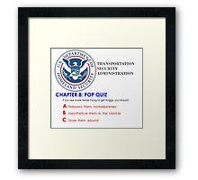 CHAPTER 8: POP QUIZ US DEPARTMENT OF HOMELAND SECURITY Framed Print