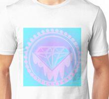 Pastel Diamond neon Screen print Unisex T-Shirt