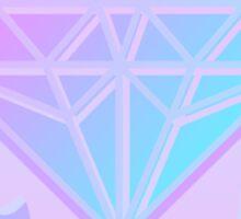 Pastel Diamond neon Screen print Sticker