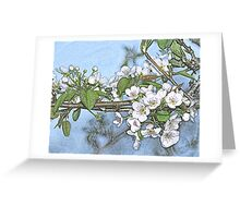 Stone Pear in Bloom Greeting Card