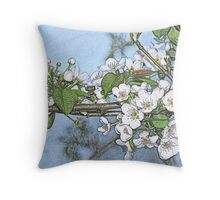 Stone Pear in Bloom Throw Pillow