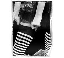 models legs, monochrome Poster