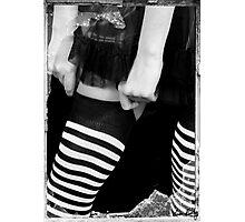 models legs, monochrome Photographic Print