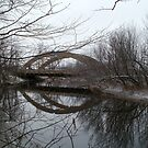 Bridge Reflection in Winter by linmarie