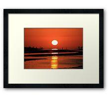 Sanibel Island sunrise Framed Print