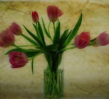 Vase of Tulips by Karen  Betts