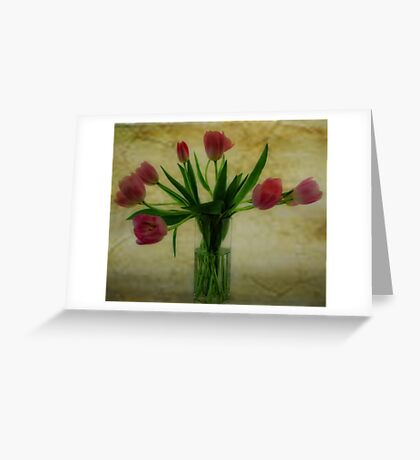 Vase of Tulips Greeting Card