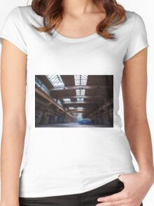 Dark side of the VW bus Women's Fitted Scoop T-Shirt