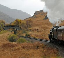 Steaming through the mountains to Mallaig by Rupert Connor