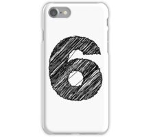 Sketchy Letter Series - Number 6 iPhone Case/Skin