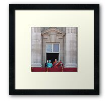 Queen and family Framed Print