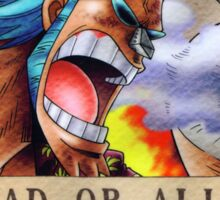 Wanted Franky - One Piece Sticker