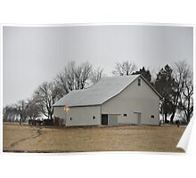 White barn-Randolph County Poster