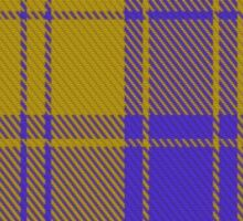 00495 MacLachlan Blue (Chief's Dress) Clan/Family Tartan  Sticker