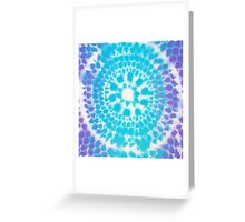 Fish Scale Mandala (spray paint) Greeting Card