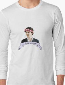 Sherlock Holmes - I hate everything Long Sleeve T-Shirt