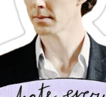 Sherlock Holmes - I hate everything Sticker