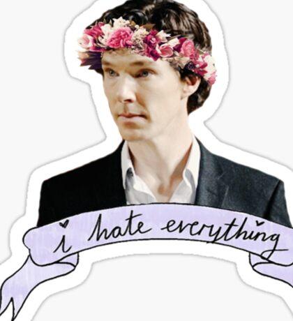 Sherlock Holmes - I hate everything Sticker