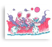 Luke & Leia Tandem Bike Canvas Print
