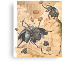Theodor Kittelsen Slagsmaal mellem to skarnbasser Brawl between two beetles 1894 Canvas Print
