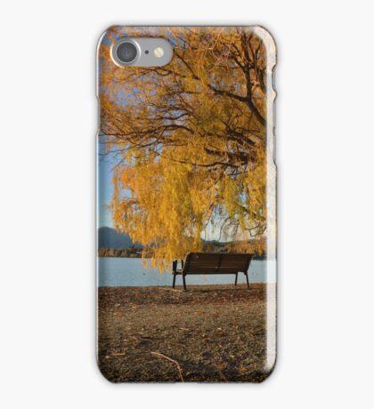Fall trees beside lake iPhone Case/Skin