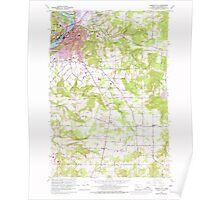 USGS Topo Map Oregon Oregon City 281003 1961 24000 Poster