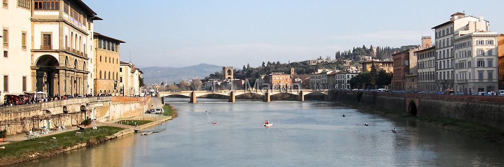 View From The Ponte Vecchio - Florence,  Italy by T.J. Martin
