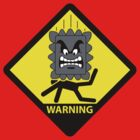 Crushing Hazard sign by D4N13L
