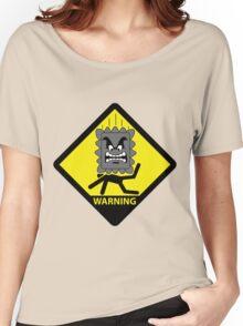 Crushing Hazard sign Women's Relaxed Fit T-Shirt
