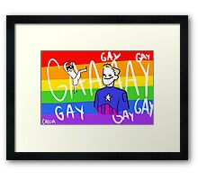 Cap Is Gay Framed Print