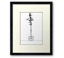 DR Duchamps uni cycle Framed Print
