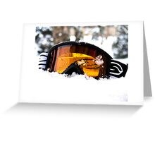 Goggles in the Snow Greeting Card