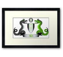 Agender Crest Framed Print