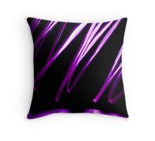 Purple Scribble Throw Pillow