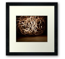 Raw Scribble Framed Print