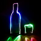 Rainbow Bottle and Glass #2 by Reza G Hassani