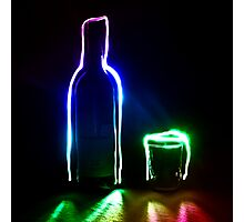 Rainbow Bottle and Glass #2 Photographic Print