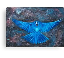 Blue Bird Joy Canvas Print