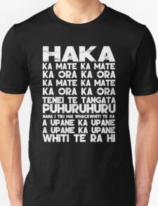 New Zealand Rugby Union World Cup 2015 Haka T Shirt (white font)) T-Shirt