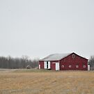 Red barn Randolph County  by mltrue