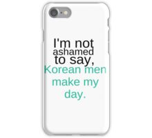 Korean Men iPhone Case/Skin