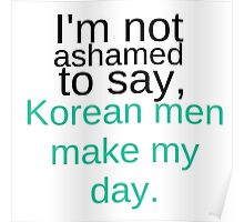 Korean Men Poster
