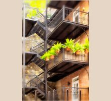 Flower Pots on Staircase Unisex T-Shirt