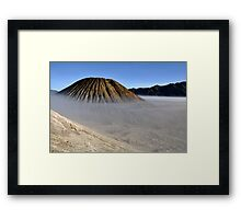 Gunung Bromo valley in fog Framed Print