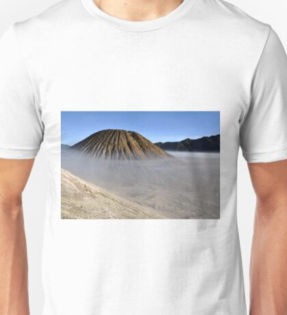 Gunung Bromo valley in fog Unisex T-Shirt