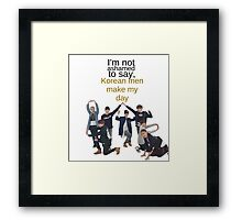 Korean Men - BTS Framed Print