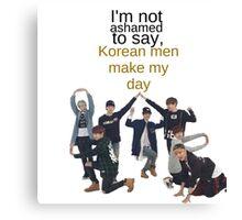 Korean Men - BTS Canvas Print