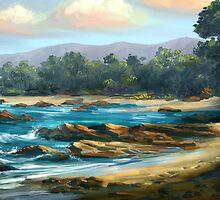 Rocky Beach by twhiteart