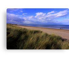 Salty Dreams and Sand Dunes : Marske on Sea, North Yorkshire, England Canvas Print